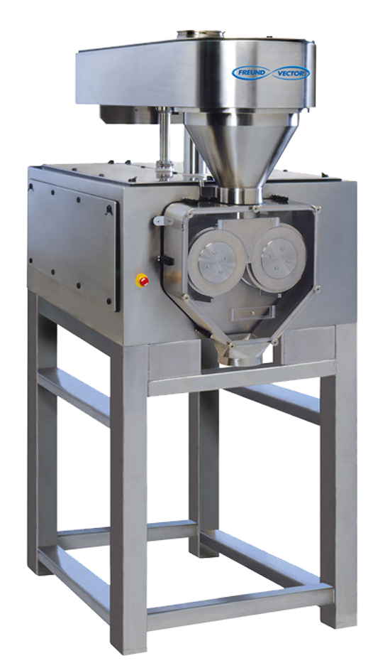 Freund-Vector's TFC Roll Compactor used for densification and dry granulation