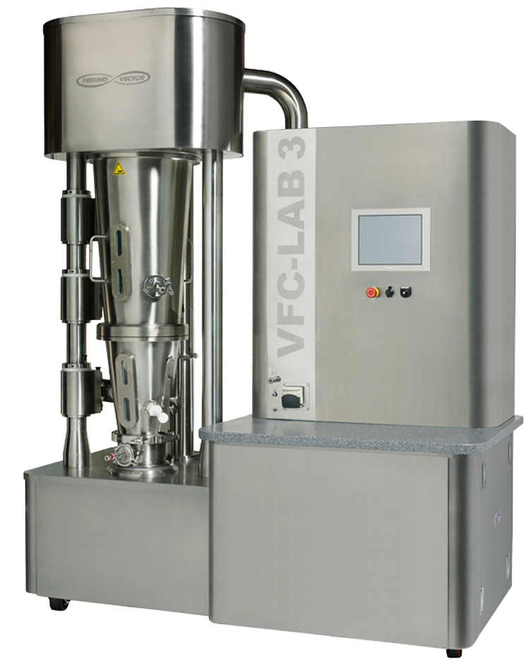 VFC-LAB-3 Multi-Purpose Laboratory Fluid Bed System from Freund-Vector